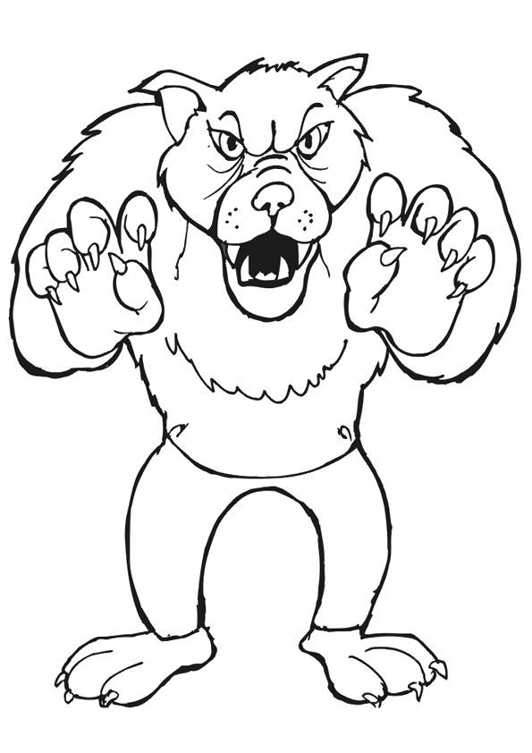 Раскраска Большой злой волк