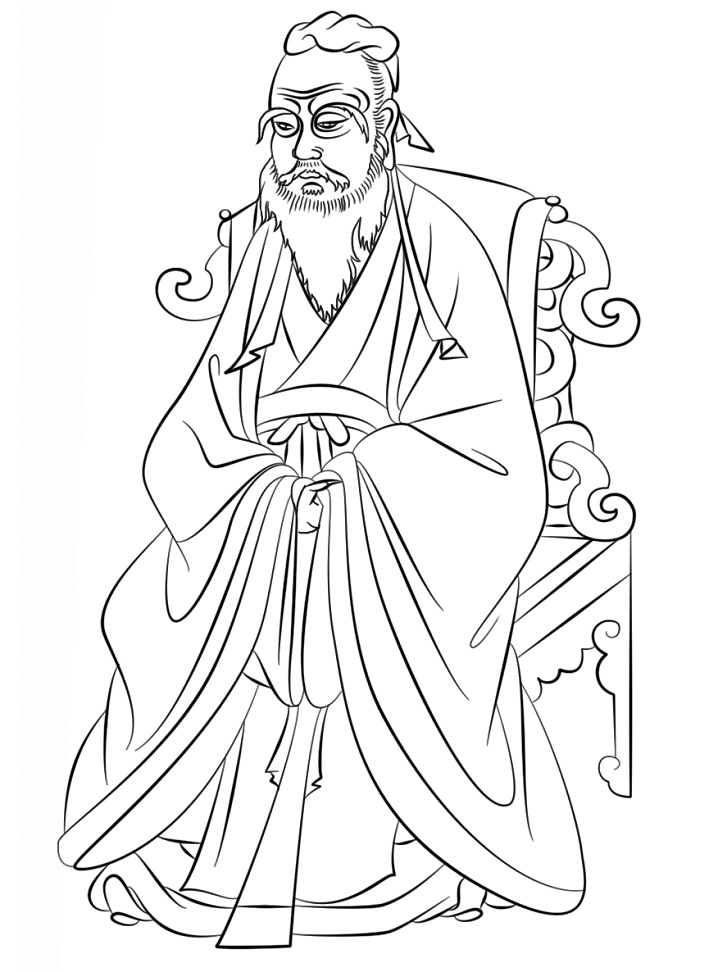 Раскраска Конфуций 2