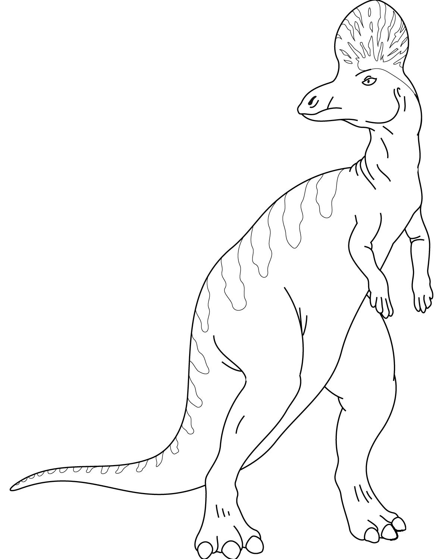 Раскраска Коритозавр