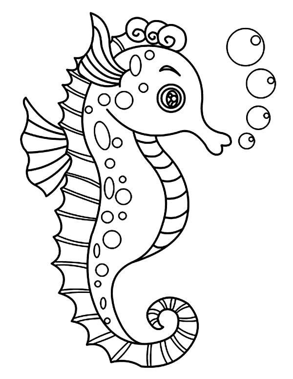 Раскраска Морской конек