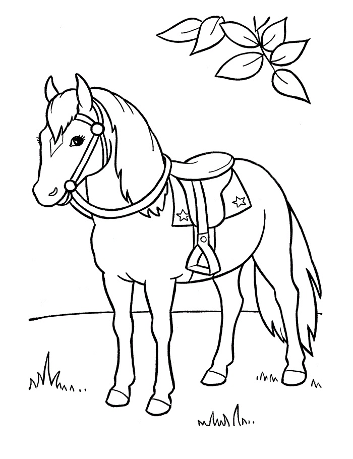 Раскраска Раскраски Лошади