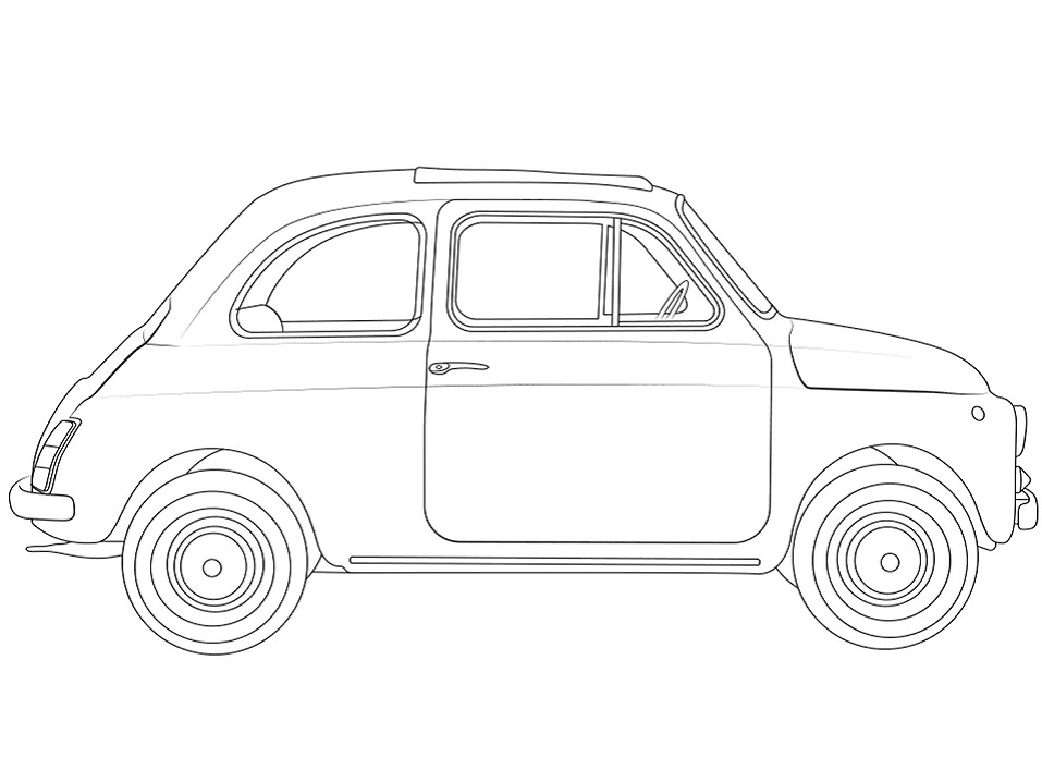 Раскраска Fiat 500