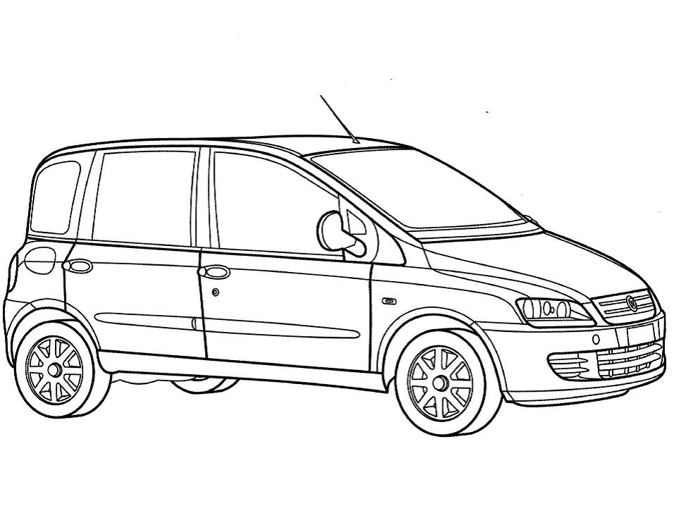 Раскраска Фургон Fiat Multipla