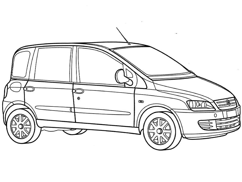 Раскраска Fiat Multipla