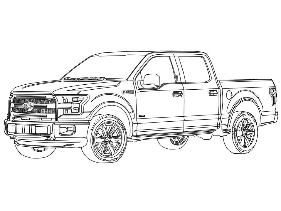 Раскраска Пикап Ford F150