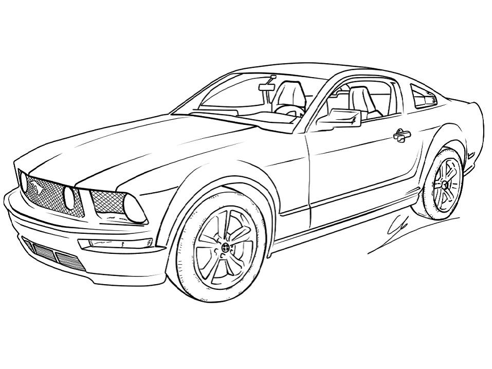 Раскраска Ford Mustang GT