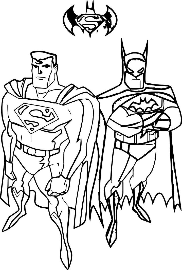 Раскраска Бэтмен и супермен 2