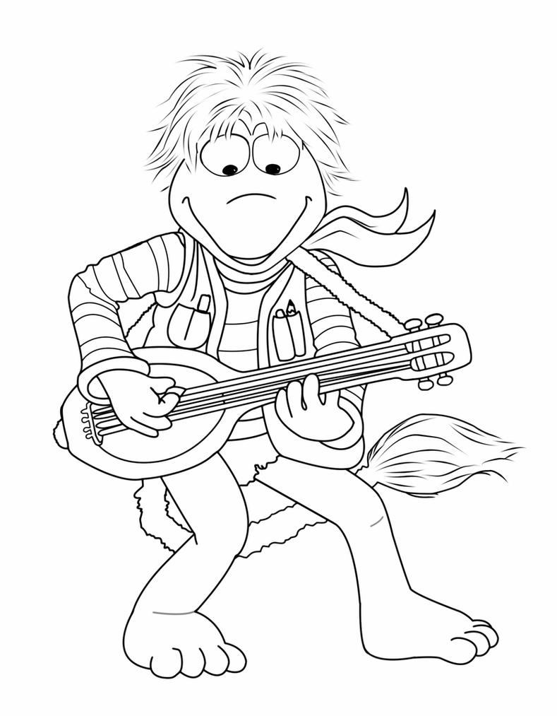 Раскраска гобо на гитаре