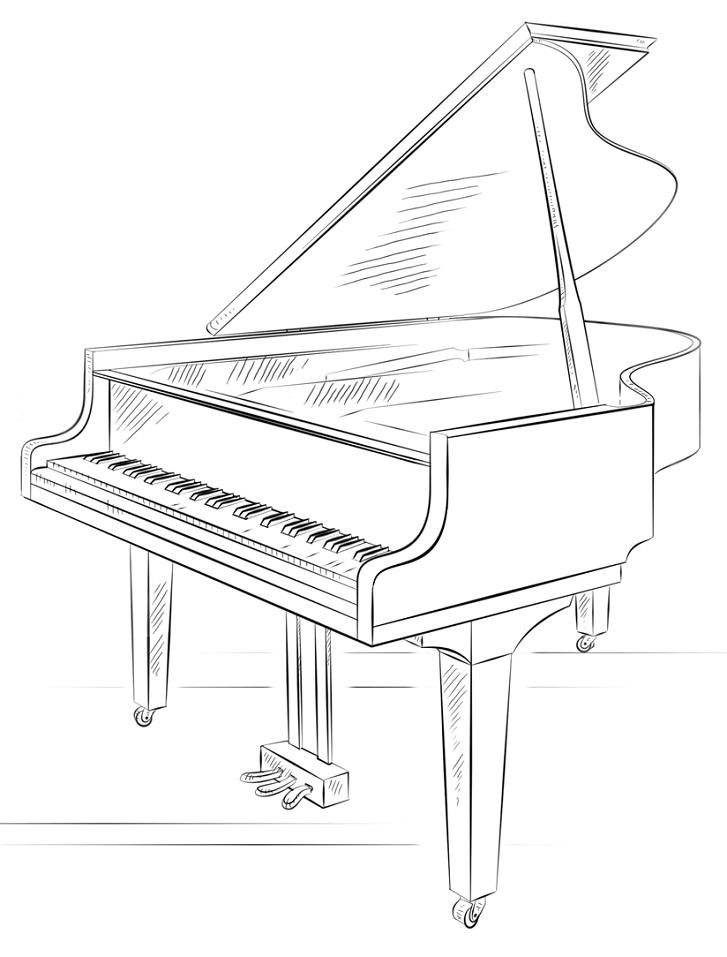 Раскраска Фортепиано
