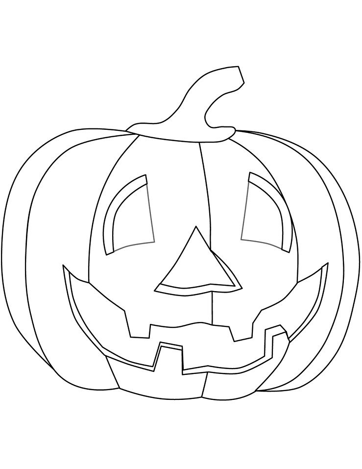 Раскраска Хеллоуинская тыква