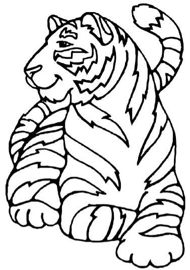 Раскраска Амурский тигр 4