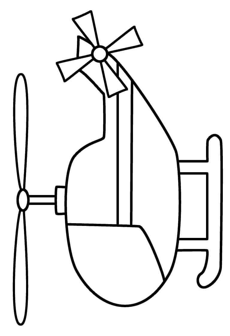 Раскраска вертолет