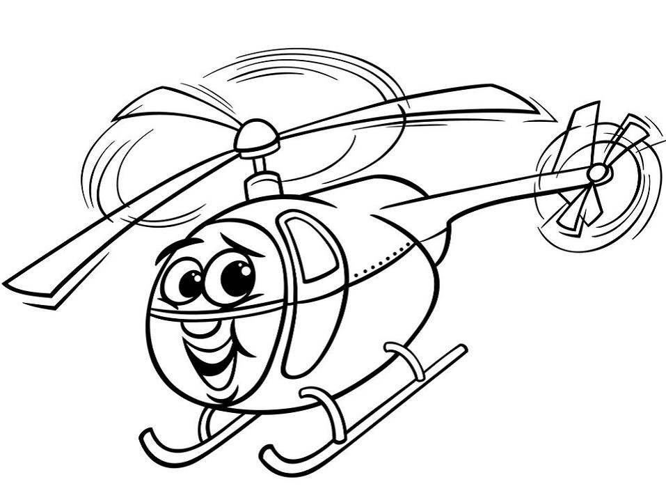Раскраска Раскраски Вертолет