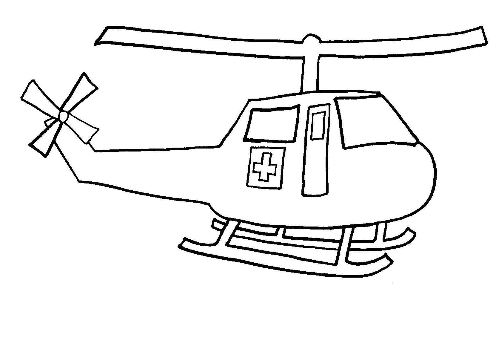 Раскраска аварийный вертолет