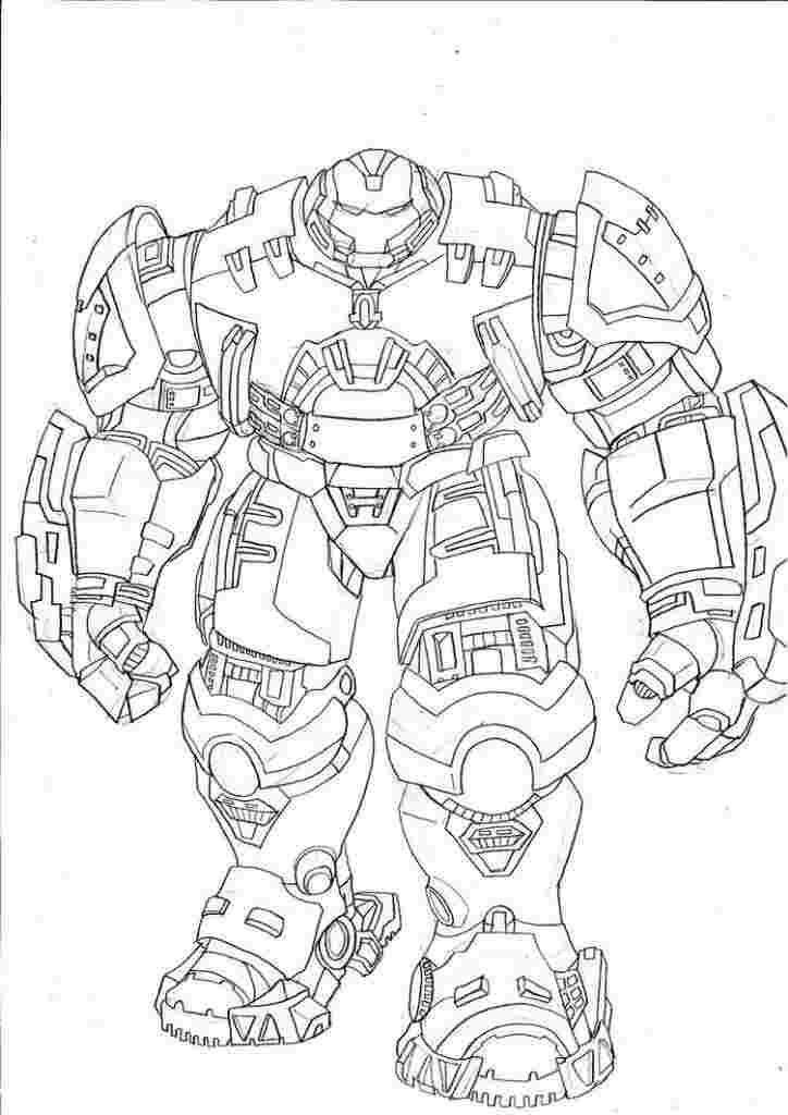 Раскраска Hulkbuster 2