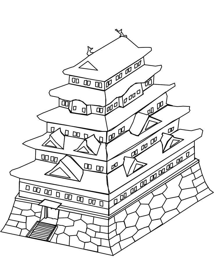 Раскраска Раскраски Япония
