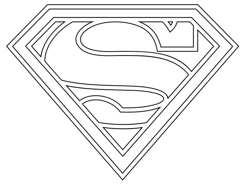 Раскраска символ супермена