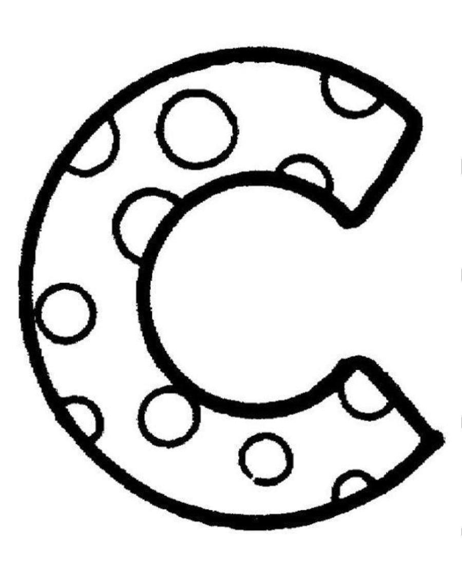 Раскраска Буква C