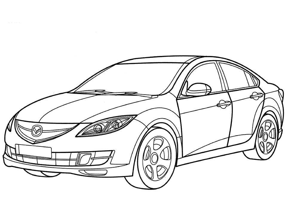 Раскраска Седан Mazda 6