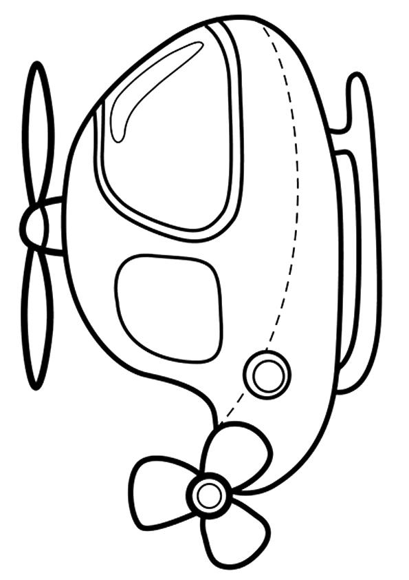 Раскраска Крошечный Вертолет