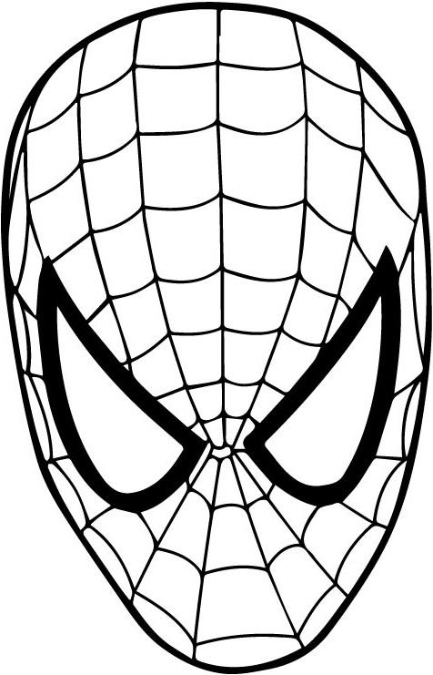 Раскраска человек-паук маскировать 3