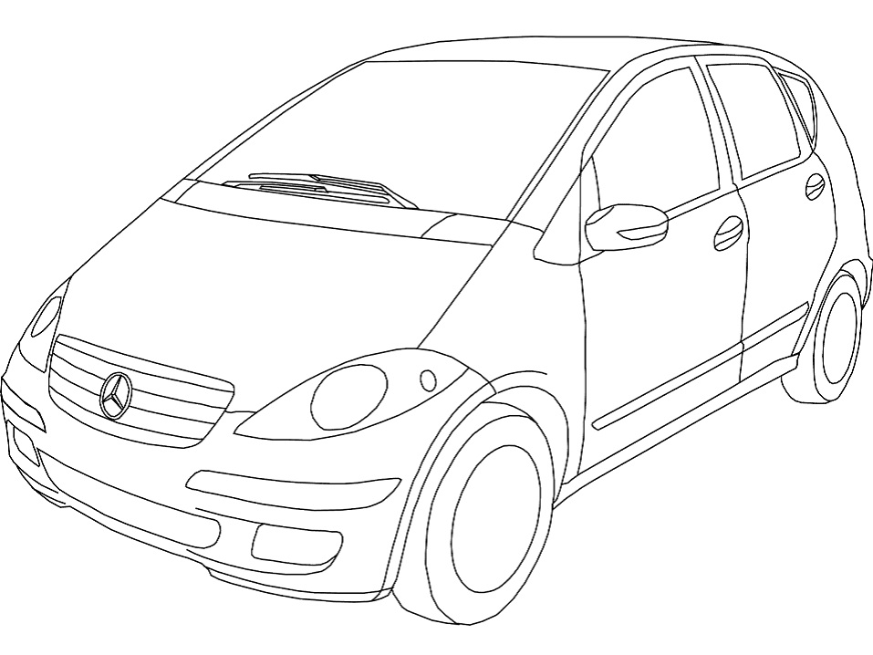 Раскраска Mercedes-Benz A-класс