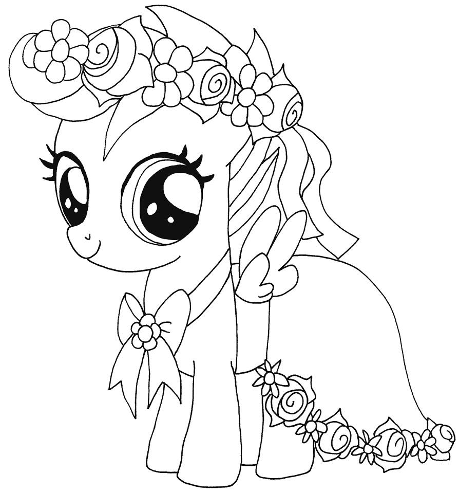 Раскраска Раскраски Мой маленький пони