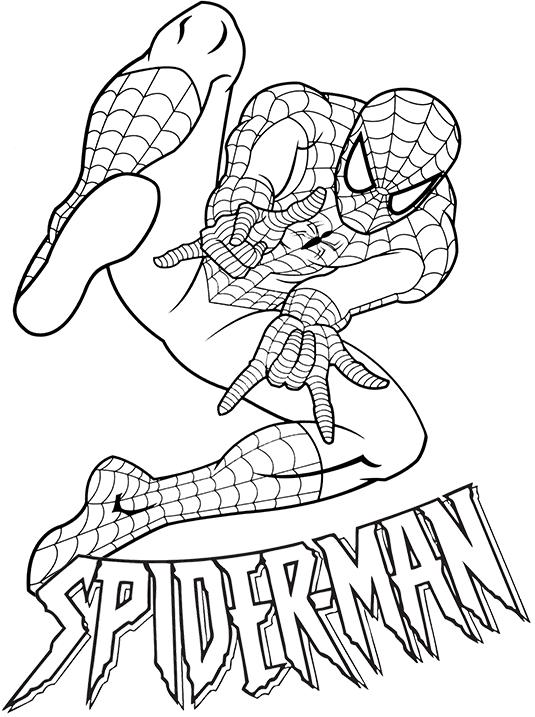 Раскраска человек-паук 3