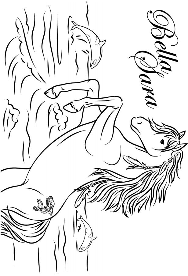 Раскраска Белла лошадь