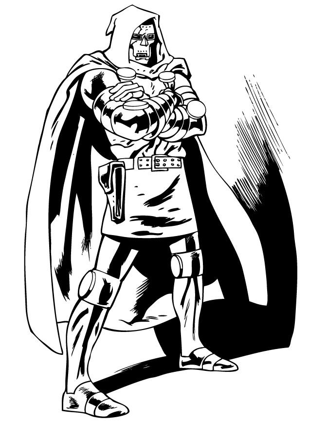 Раскраска Доктор Дум 2