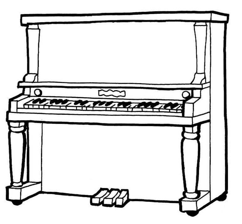 Раскраска Пианино