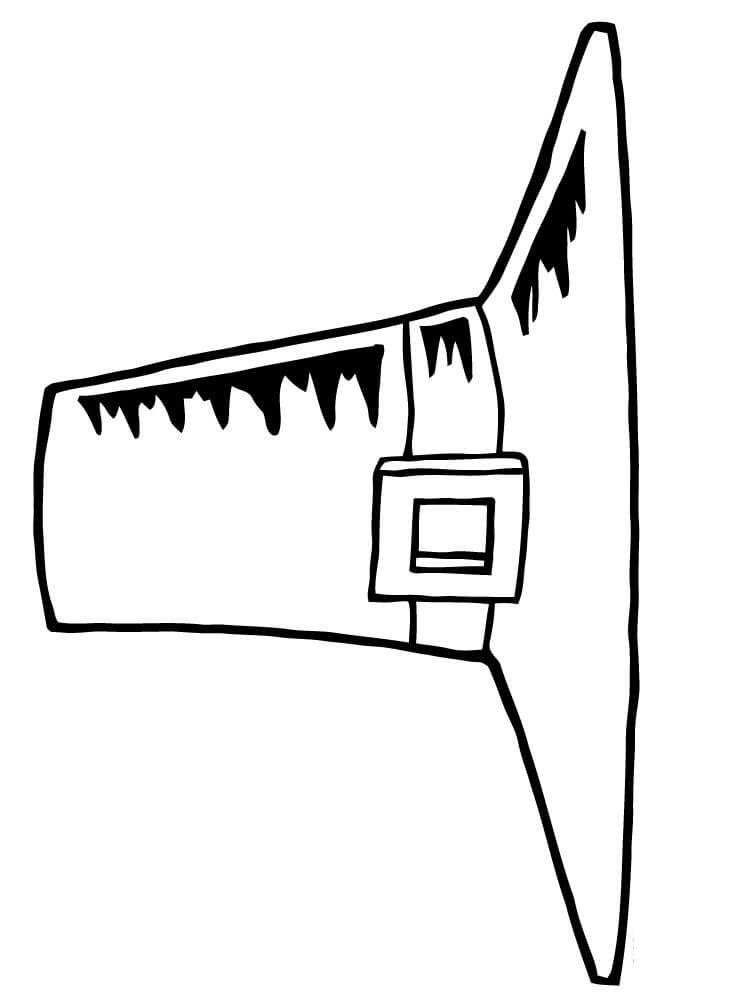 Раскраска Шляпа пилигрима