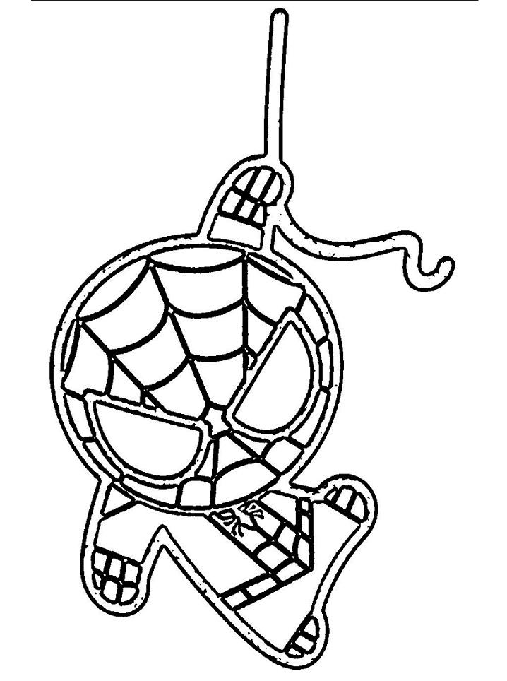 Раскраска милый человек-паук 3