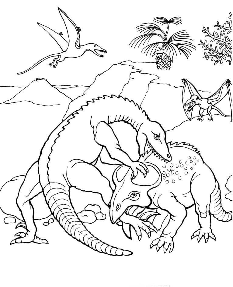 Раскраска Протоцератопс