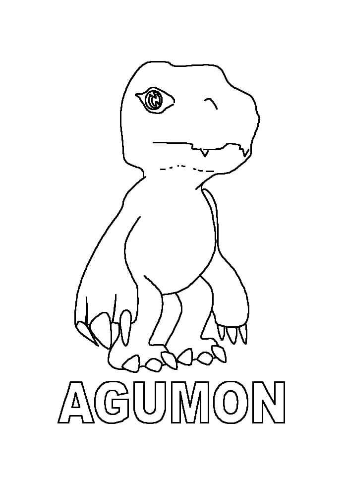 Раскраска Агумон