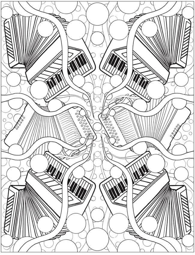 Раскраска аккордеоны