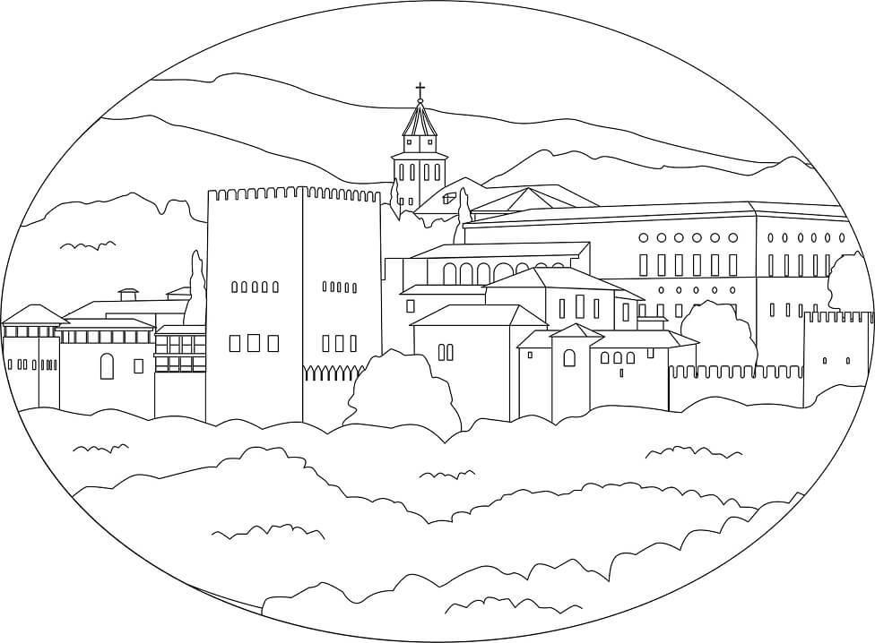 Раскраска Альгамбра