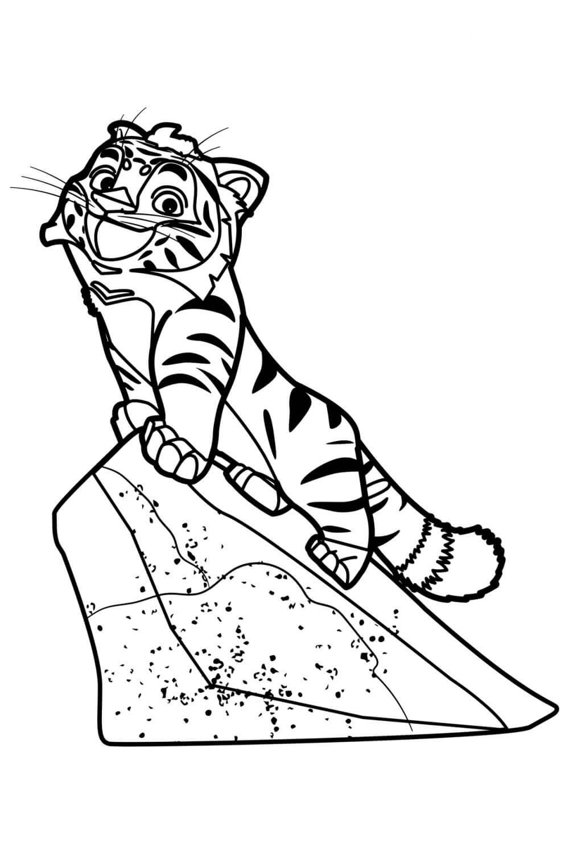 Раскраска Амурский тигр Тиг