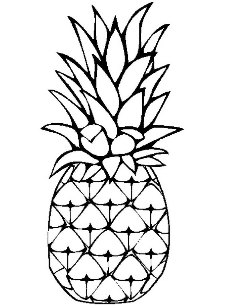Раскраска ананас 1
