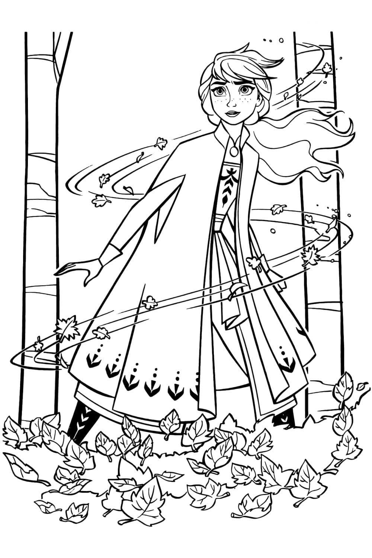 Раскраска Анна и стихия Ветра