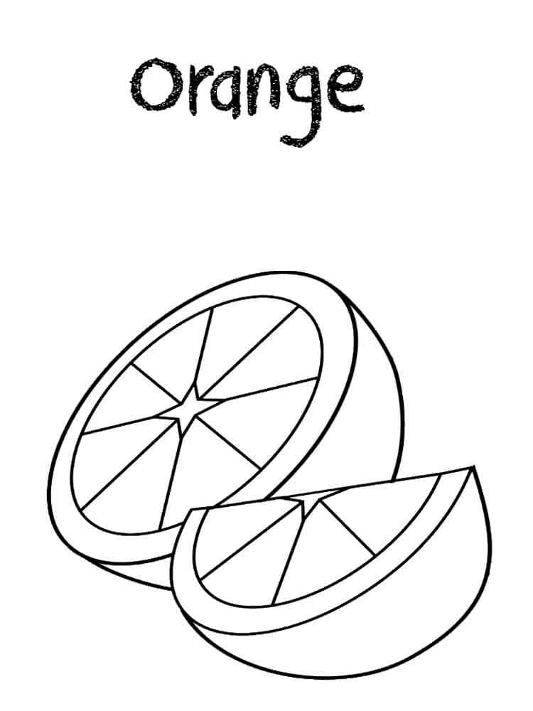 Раскраска Раскраски Апельсин