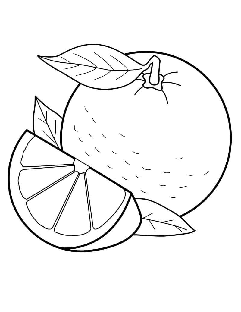 Раскраска Апельсин и Долька
