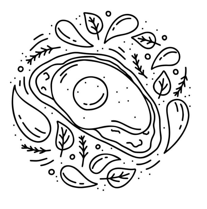 Раскраска Авокадо 14