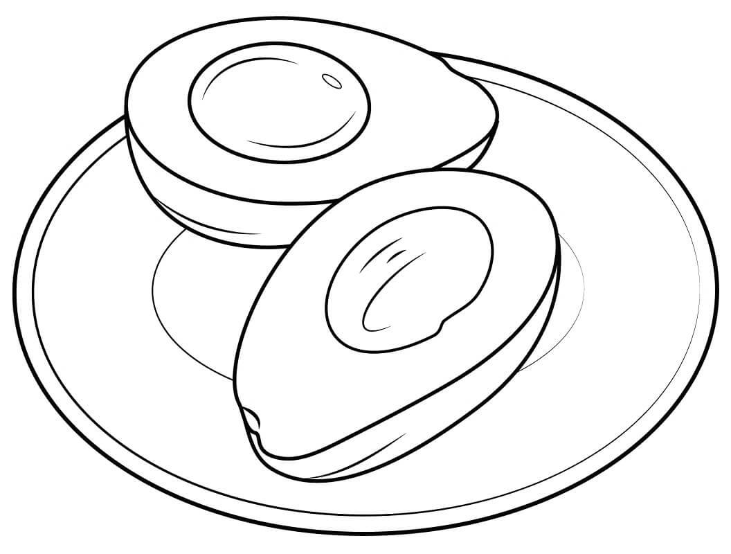 Раскраска Авокадо 19