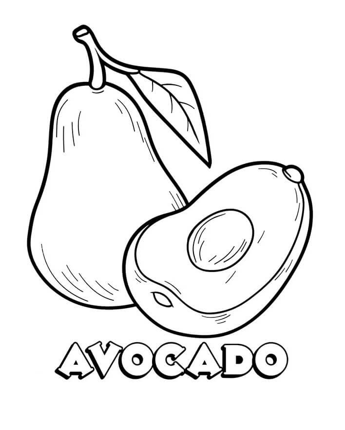 Раскраска Авокадо 4