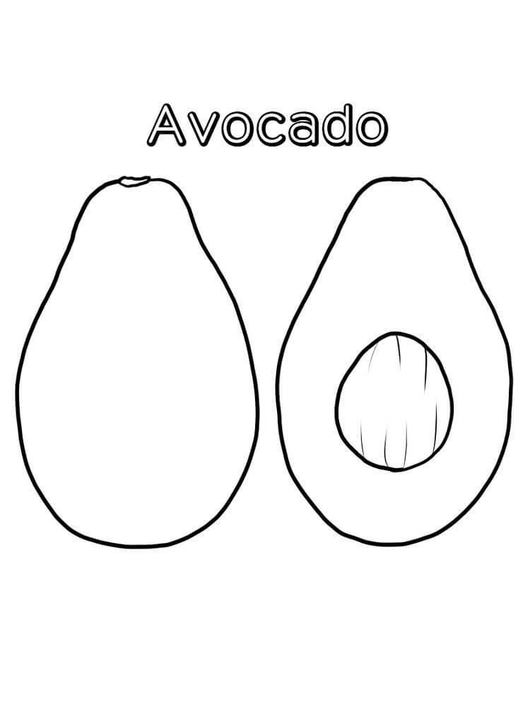 Раскраска Авокадо 8