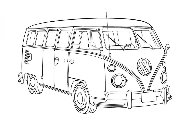 Раскраска Автобус Фольксваген