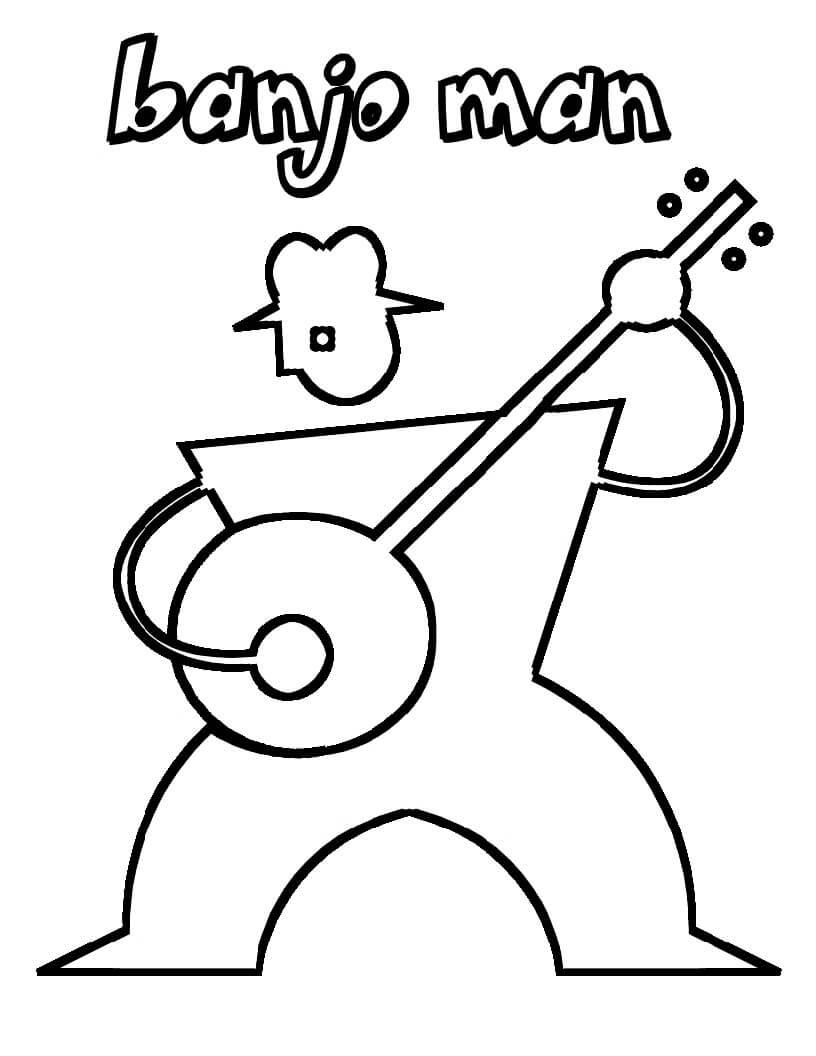 Раскраска банджо игрок 2