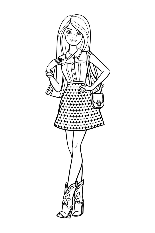 Раскраска Барби с веснушками