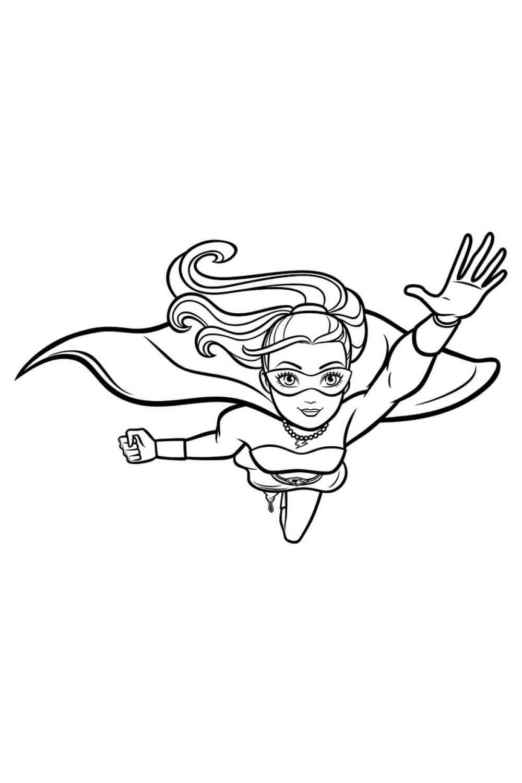 Раскраска Барби: супер блеск в полёте